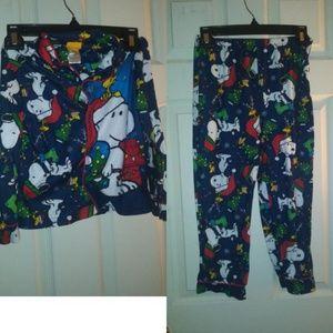 Holiday Peanuts Pajama Set